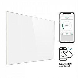 Klarstein Wonderwall 1200 Smart, infrapanel, infračervený ohřívač, 100 x 120 cm, 1200 W, časovač, bílý