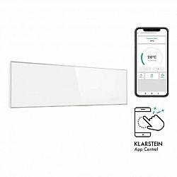 Klarstein Wonderwall 300 Smart, infrapanel, infračervený ohřívač, 30 x 100 cm, 300 W, časovač, IP24, bílý