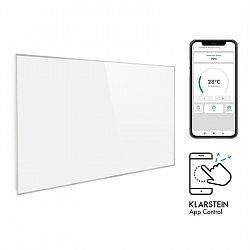 Klarstein Wonderwall 960 Smart, infrapanel, infračervený ohřívač, 80 x 120 cm, 960 W, časovač, bílý