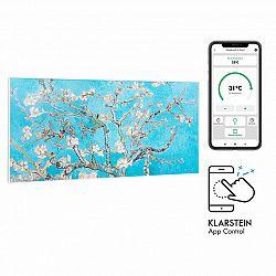 Klarstein Wonderwall Air Art Smart, infračervený ohřívač, 120 x 60 cm, 700 W, aplikace, mandlový květ