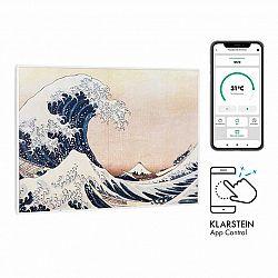 Klarstein Wonderwall Air Art Smart, infračervený ohřívač, 80 x 60 cm, 500 W, aplikace, vlny